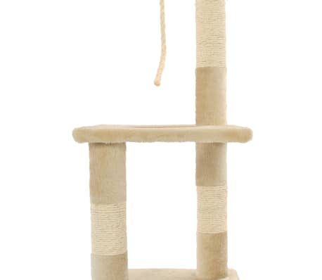 vidaXL Cat Tree with Sisal Scratching Posts 109 cm Beige[6/7]