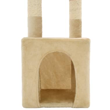 vidaXL Cat Tree with Sisal Scratching Posts 109 cm Beige[7/7]