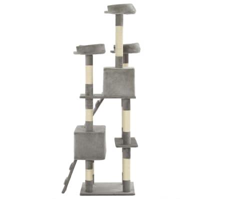 vidaXL sisalköitega kraapimispuuga kassimaja 170 cm hall[5/7]