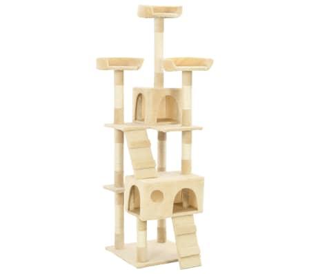 vidaXL Rascador para gatos poste rascador de sisal 170 cm beige[2/7]