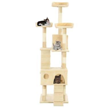 vidaXL Rascador para gatos poste rascador de sisal 170 cm beige[3/7]