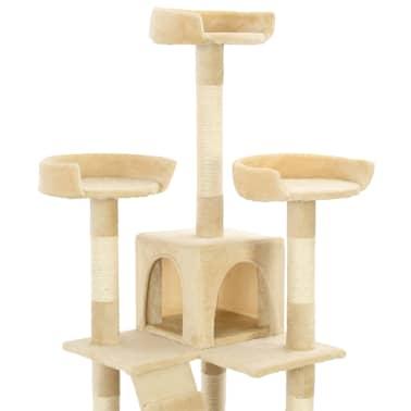 vidaXL Rascador para gatos poste rascador de sisal 170 cm beige[6/7]