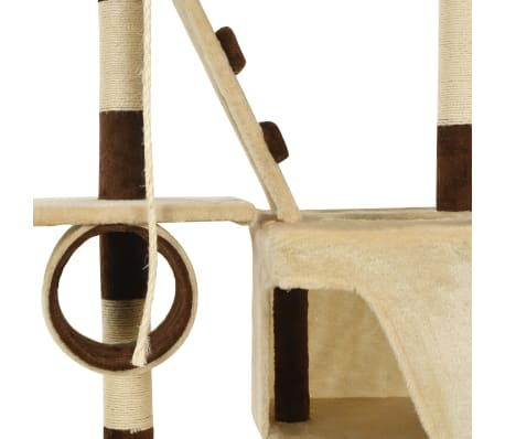vidaXL Cat Tree with Sisal Scratching Posts 246-280 cm Beige and Brown[12/13]
