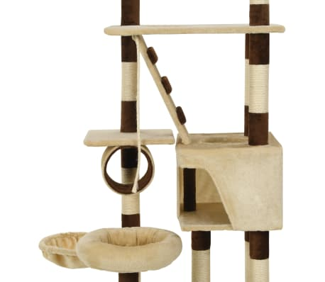 vidaXL Cat Tree with Sisal Scratching Posts 246-280 cm Beige and Brown[6/13]