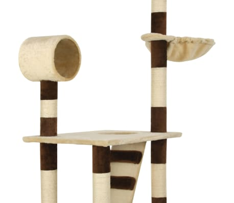 vidaXL Cat Tree with Sisal Scratching Posts 246-280 cm Beige and Brown[9/13]