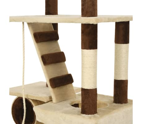 vidaXL Cat Tree with Sisal Scratching Posts 246-280 cm Beige and Brown[10/13]