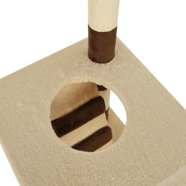 vidaXL Cat Tree with Sisal Scratching Posts 246-280 cm Beige and Brown[11/13]