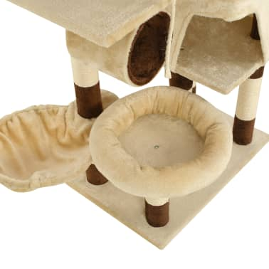 vidaXL Cat Tree with Sisal Scratching Posts 246-280 cm Beige and Brown[13/13]