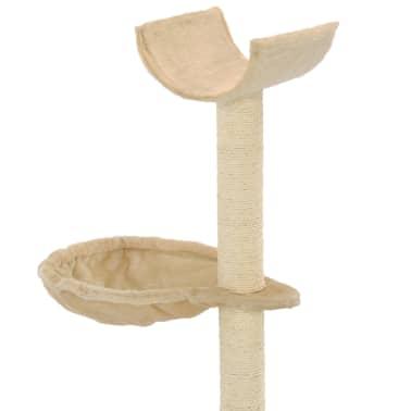 vidaXL kradsetræ til katte med sisal-kradsestolper 105 cm beige[5/5]