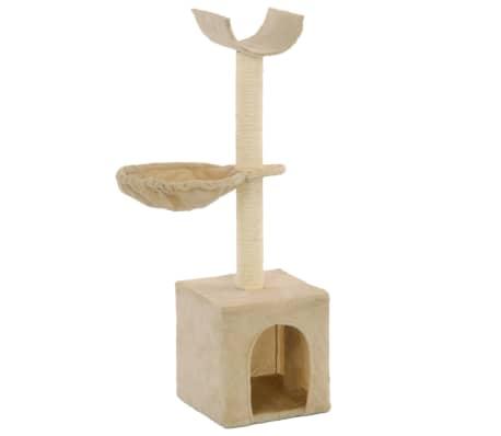 vidaXL kradsetræ til katte med sisal-kradsestolper 105 cm beige[1/5]