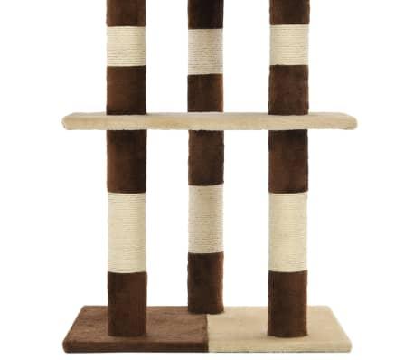 vidaXL Mačje drevo s praskalniki iz sisala 127 cm bež in rjava[6/6]
