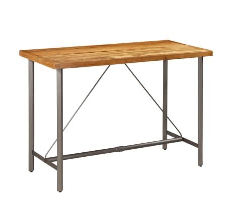 vidaXL Barový stůl z masivního recyklovaného teaku 150 x 70 x 106 cm[1/17]