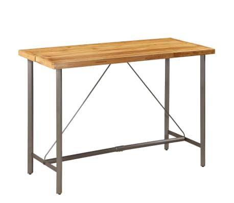 vidaXL Barový stůl z masivního recyklovaného teaku 150 x 70 x 106 cm[15/17]