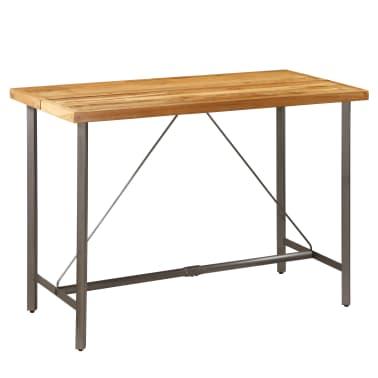 vidaXL Barový stůl z masivního recyklovaného teaku 150 x 70 x 106 cm[13/17]