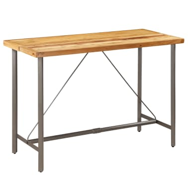 vidaXL Barový stůl z masivního recyklovaného teaku 150 x 70 x 106 cm[16/17]