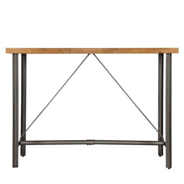 vidaXL Barový stůl z masivního recyklovaného teaku 150 x 70 x 106 cm[4/17]