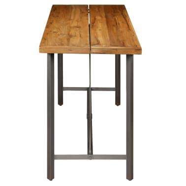vidaXL Barový stůl z masivního recyklovaného teaku 150 x 70 x 106 cm[5/17]