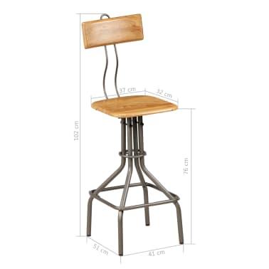 vidaXL bāra mēbeļu komplekts, 9 gab., pārstrādāts masīvs tīkkoks[18/30]