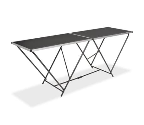 vidaXL Table pliable de collage MDF et aluminium 200 x 60 x 78 cm[1/6]