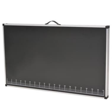 vidaXL Table pliable de collage MDF et aluminium 200 x 60 x 78 cm[4/6]