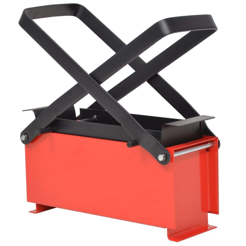 vidaXL Presă de bricheți din hârtie, oțel, 34x14x14 cm, negru și roșu poza vidaxl.ro