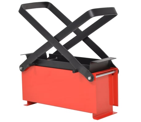 "vidaXL Paper Log Briquette Maker Steel 13.4""x5.5""x5.5"" Black and Red"