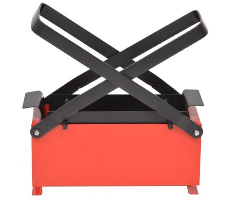 "vidaXL Paper Log Briquette Maker Steel 13.4""x5.5""x5.5"" Black and Red[2/4]"