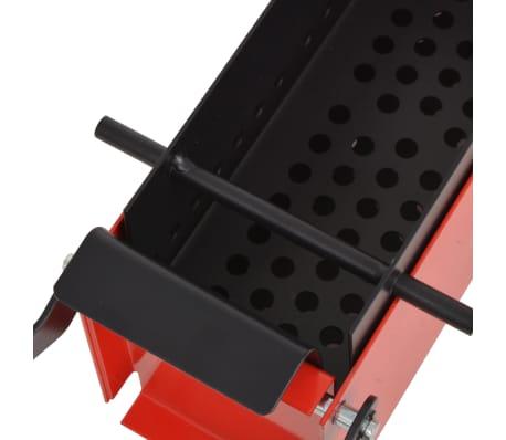 vidaXL Papierbrikettpresse Stahl 34 x 14 x 14 cm Schwarz und Rot[3/4]