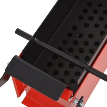 "vidaXL Paper Log Briquette Maker Steel 13.4""x5.5""x5.5"" Black and Red[3/4]"
