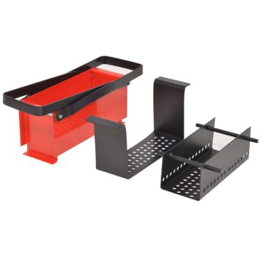 "vidaXL Paper Log Briquette Maker Steel 13.4""x5.5""x5.5"" Black and Red[4/4]"