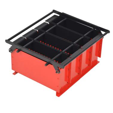 vidaXL Presă de bricheți din hârtie, oțel, 38x31x18 cm, Negru și roșu[1/4]