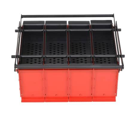 vidaXL Presă de bricheți din hârtie, oțel, 38x31x18 cm, Negru și roșu[2/4]