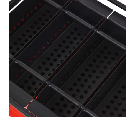 vidaXL Presă de bricheți din hârtie, oțel, 38x31x18 cm, Negru și roșu[3/4]