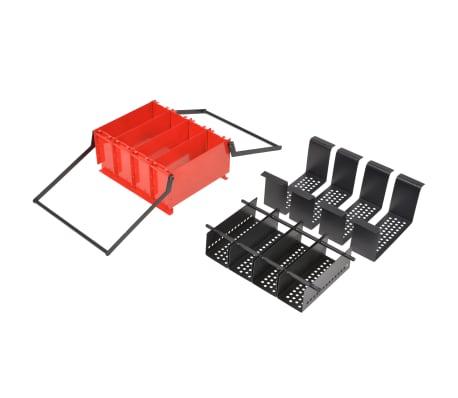 vidaXL Presă de bricheți din hârtie, oțel, 38x31x18 cm, Negru și roșu[4/4]