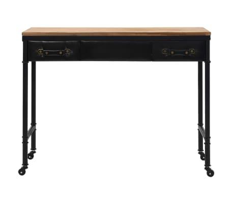 vidaXL Konsolinis staliukas, MDF ir eglės mediena, 100x33,5x80cm[2/8]