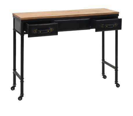 vidaXL Konsolinis staliukas, MDF ir eglės mediena, 100x33,5x80cm[3/8]
