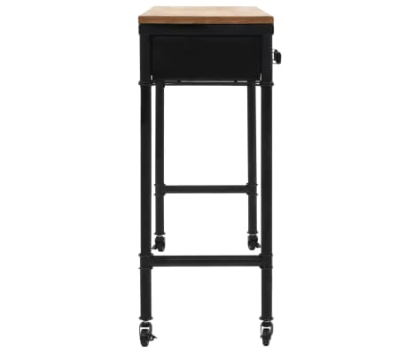vidaXL Konsolinis staliukas, MDF ir eglės mediena, 100x33,5x80cm[4/8]