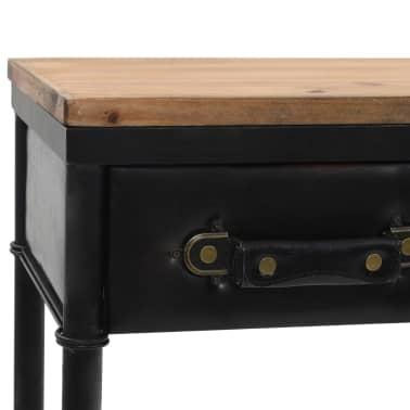 vidaXL Konsolinis staliukas, MDF ir eglės mediena, 100x33,5x80cm[5/8]
