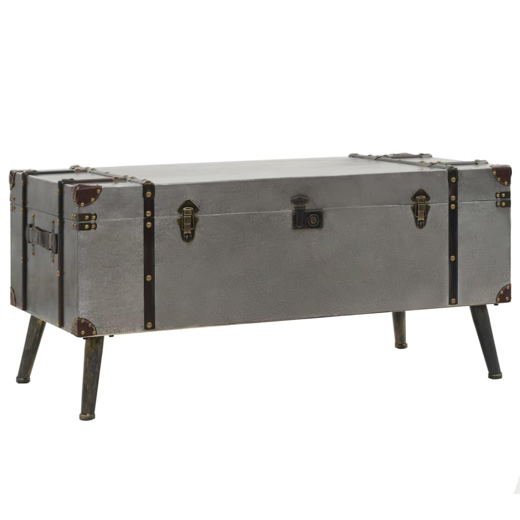 vidaXL Stolik kawowy z płyty MDF i aluminium, 102 x 51 x 47,5 cm