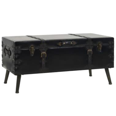 vidaXL Kavos staliukas, MDF ir plienas, 102x51x48cm[1/9]