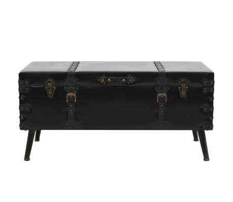 vidaXL Kavos staliukas, MDF ir plienas, 102x51x48cm[2/9]