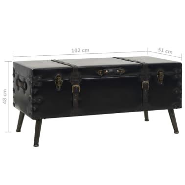 vidaXL Kavos staliukas, MDF ir plienas, 102x51x48cm[9/9]