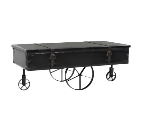 vidaXL Kavos staliukas, MDF ir eglės mediena, 110x55x43 cm[1/8]