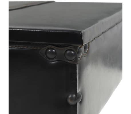 vidaXL Kavos staliukas, MDF ir eglės mediena, 110x55x43 cm[5/8]