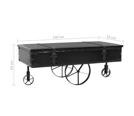 vidaXL Kavos staliukas, MDF ir eglės mediena, 110x55x43 cm[8/8]