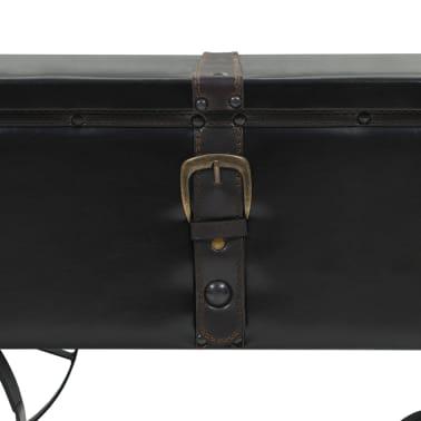 vidaXL Kavos staliukas, MDF ir eglės mediena, 110x55x43 cm[4/8]