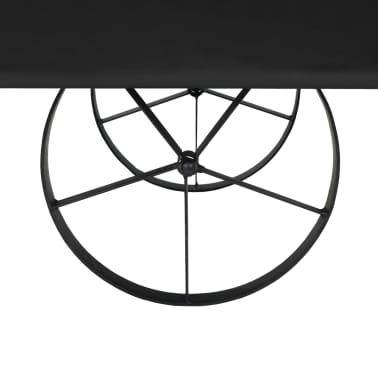 vidaXL Kavos staliukas, MDF ir eglės mediena, 110x55x43 cm[6/8]