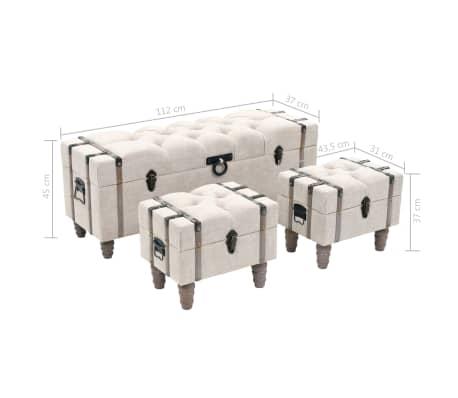 vidaXL Suoliukų-daiktadėžių rink., 3d., med. ir plienas, 112x37x45cm[14/14]