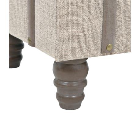 vidaXL Suoliukas-daiktadėžė, masyvi mediena ir plienas, 111x34x37cm[9/10]