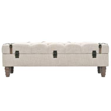 vidaXL Suoliukas-daiktadėžė, masyvi mediena ir plienas, 111x34x37cm[3/10]